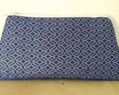 Blue and Gold Cosmetic Bag