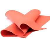 "100 Percent Wool Felt Sheet in Color SALMON - 18"" X 18"" Wool Felt Sheet - Merino Wool Felt"