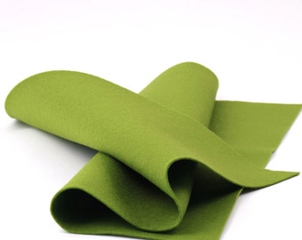 "100% Wool Felt Sheet in Color WILLOW - 18"" X 18"" Wool Felt Sheet - Merino Wool Felt - European Wool Felt"