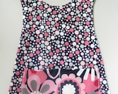 ON SALE:  Pink & Gray multi dot apron style pinafore APRON size 3T