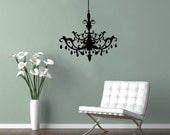 CHANDELIER removable vinyl wall decal sticker home decor