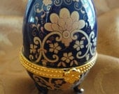 Bridal Gifts - Bridesmaids Gifts - Porcelain Egg Jewelry Boxes - 1 Piece - New