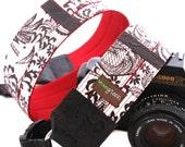 Mi Corazon Designer Oilcloth DSLR Camera Strap with Quick Release Buckles