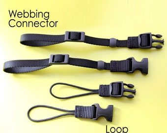 Extra Set of Webbing or Loop Connectors for Camera Strap