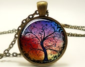 Tree Necklace, Bronze Tree Of Life Necklace Pendant Charm, Woodland Jewelry, Gift Ideas (0630B1IN)