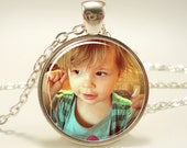 Mother's Day Personalized Photo Necklace, Keepsake Photo Jewelry (PHOS1IN)