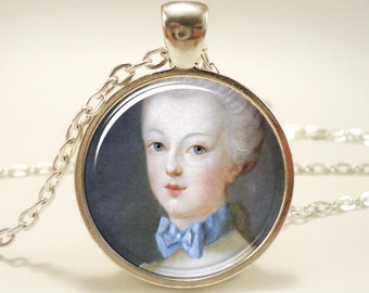 Marie Antoinette Necklace, Art Pendant Charm, statement necklace, victorian necklace (0339S1IN)