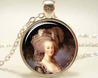 Marie Antoinette Necklace, Art Pendant Charm With Necklace Chain, french necklace (0342S1IN)