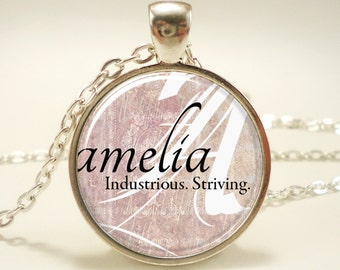Custom Name Necklace, Handmade Personalized Name Jewelry (0722S1IN)