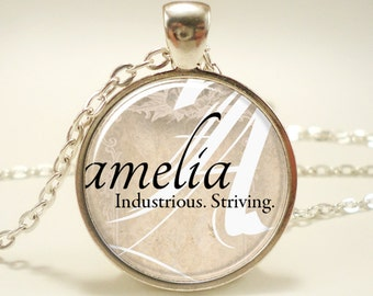 Personalized Name Necklace, Bridesmaid Gift, Gift For Her, Mother Gift (0729S1IN)