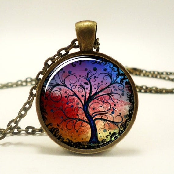 Tree Necklace, Bronze Tree Of Life Necklace Pendant Charm, Woodland Jewelry (0630B1IN)
