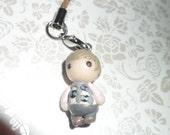 Sherlock: Kitty Jumper John Watson Clay Phone Charm