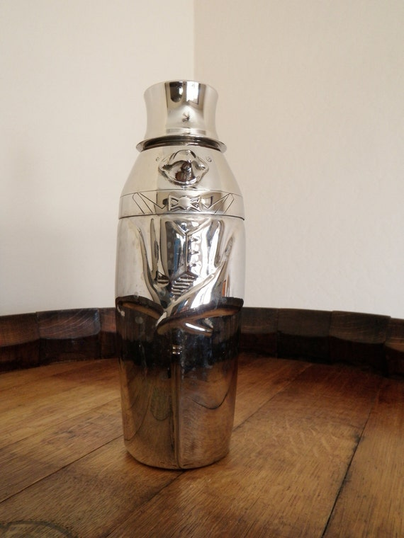 Silver Plated Penguin Cocktail Shaker by Towle