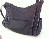 Vintage Soft Black Leather Lambskin Purse