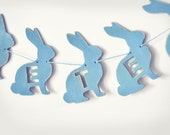Personalized Wooden Rabbit Bunting / Garland / Flags