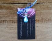 Guardian angel blue throat chakra charm