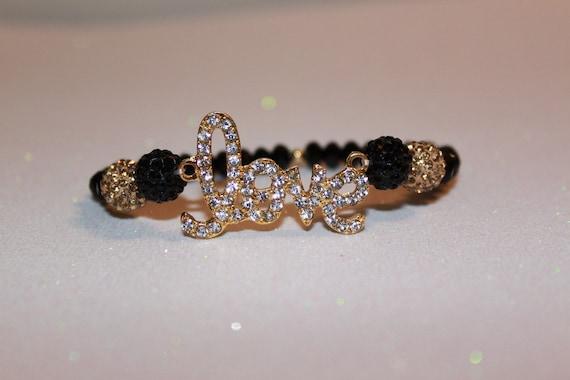 Black & Gold Love Bracelet