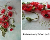 Embroidery with ribbons