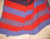 Large Handmade Afghan warm colors 60 x 64 REDUCED price for great afghan