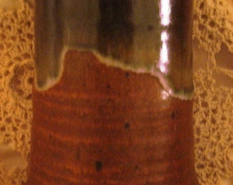 Signed Dated Pottery Rustic Pottery Vase 6inches high Excellent condition