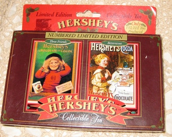 Hershey Limited Edition Collectible Card Tin IOB never opened