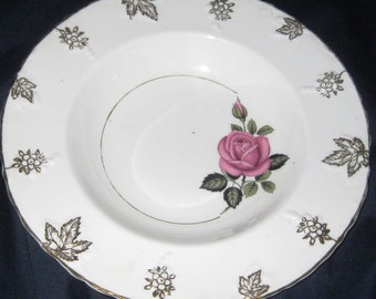 Imperial Fine English China Salad bowl 22Kgold accents