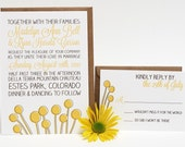 Wedding Invitations Rustic Yellow Floral