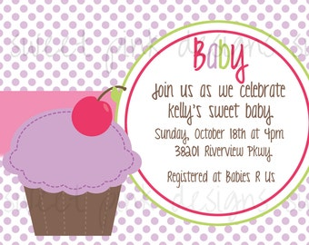 Cupcake Baby Shower Invitation