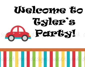 CAR Party- Printable Welcome Sign