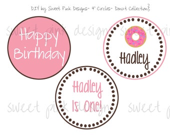 "4"" Party Circles- Donut Party Collection"
