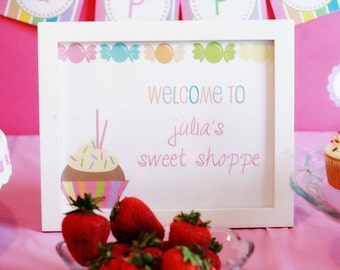 Printable Welcome Sign- Lollipop Party Collection