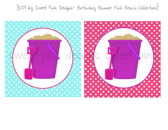 Happy Birthday Banner- Beach Pink Collection