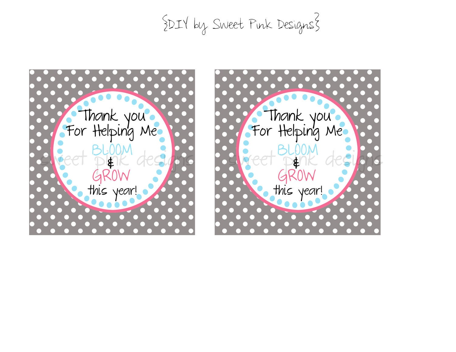 Printable Teacher Gift Tags by Sweetpinkdesigns on Etsy
