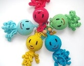 Octopus Baby toy Rattle Colorful octopus toy  Crochet animal octopus  Sea creature Multicolor Marine Funny bright octopus  Teether toy
