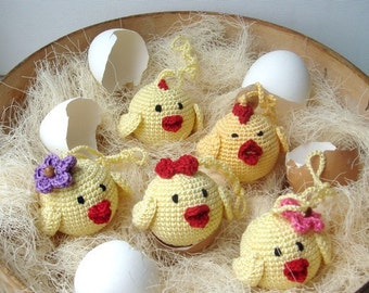 Chick Baby Toy,Сhick Baby rattle,Hanging baby toy,Car seat toy,Stroller toy,Chicken,Nest with eggs,Chicks for Easter ornament,Easter wedding