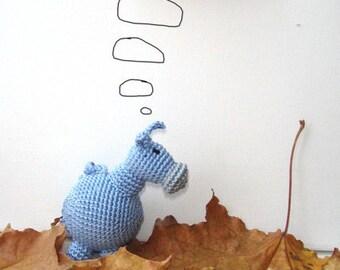 Donkey baby toy, Donkey rattle, Donkey toy,Crochet donkey,Pet,Nursery decor,Waldorf toy,Grey blue,Hanging baby toy,Car seat toy,Stroller toy