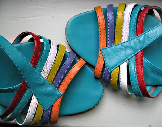 """Amalfi """"Alora"""" multi-color strappy sandal"""