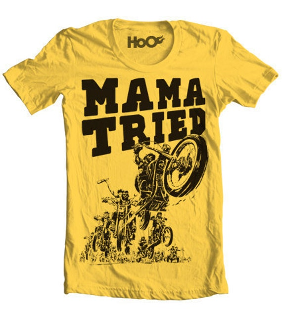 Hand screened mama tried vintage t shirt print for Vintage t shirt printing