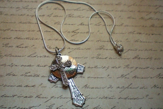 Ten Commandments Necklace. Recycled and ONE OF A KIND.