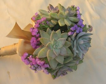 Wedding bouquet, Succulent bridal bouquet