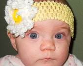 Custom Made to Order Baby, Toddler, Pre-K sized headband with interchangeable flowers