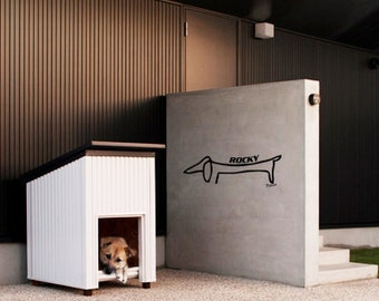 Wall art inspired by Picasso custom Dog Name Tag vinyl wall decal