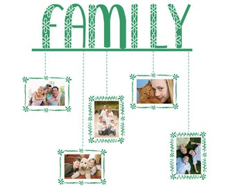 Modern Family Photo Frames vinyl wall decal removable wall decor (ID: 171010)