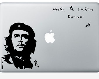 Che Guevara portrait and quote macbook laptop vinyl decal tablet decal (ID: 181005)