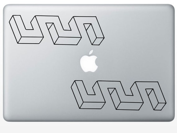 Optical Illusion Weird Meanders laptop vinyl decal tablet decal (ID: 181010)
