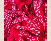 5 Yards - Red with White Polka Dots Foldover Elastic