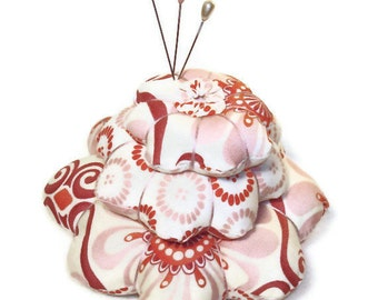 Tiered Pincushion - Beautiful Moda Fabric