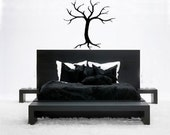 Tree Modern Contemporary Vinyl Decal Wall Art Black Home Decor Entryway Hanging