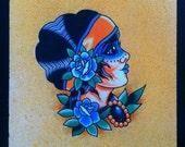 Blue Gypsy - Ashley Riot print