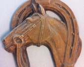 "One of a kind ""Barn Find"" - Very Old Antique Hand Carved Wooden Horse Head"